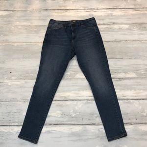 Topshop Sidney skinny moto jeans size 30